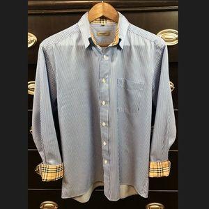 Burberry London Original Mens Check Collar Shirt